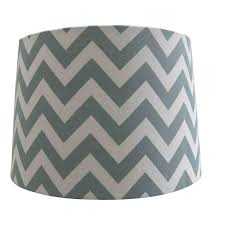 shop style selections 10 in x 13 in chevron fabric drum lamp shade