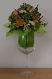 Wine Glass Flower Vase Beautiful Arrangement In A Large Wine Glass Flower Arrangements