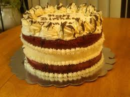 red velvet cheesecake birthday cake cakecentral com