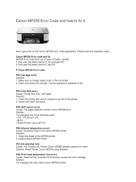 cara reset printer canon mp258 error e13 canon mp258 error code and how to fix it printer computing