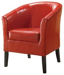 High Armchairs Upholstered Club Chair W High Arms U0026 Deep Seat Red Contemporary