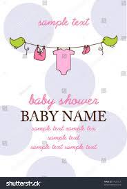 baby shower invitation template flying birds stock vector 74121013