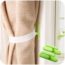 4pcs u003d 2set self adhesive wall hook organizer curtain holder