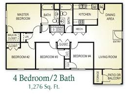 4 bedroom 2 bath floor plans wonderful design 4 bedroom 2 bath bedroom ideas