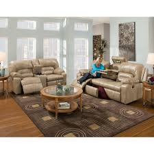 Rocking Reclining Loveseat With Console Dakota Smart Blend Collection