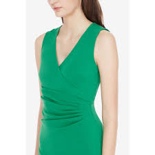 diane von furstenberg layne stretch crepe dress in green lyst