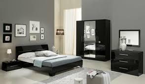ensemble de chambre chambre complete gloria laquée noir