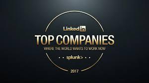 splunk named to linkedin top companies list