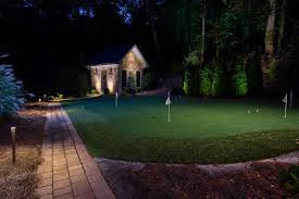backyard putting green lighting services landscape lighting systems inc