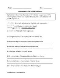 capitalizing people and places capitalization worksheet