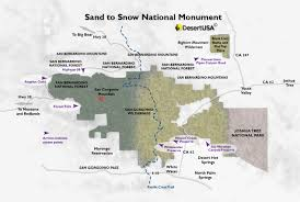 Snow Map Usa by Sand To Snow National Monument Desertusa