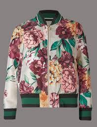floral print bomber jacket m u0026s