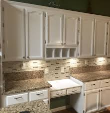 refinished old oak cabinets with fresh coat of benjamin moore