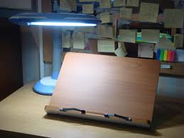 file bookstand with desk lamp jpg wikimedia commons