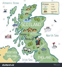 World Map Scotland by Cartoon Map Scotland Stock Vector 528275044 Shutterstock