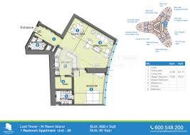 200 Sq Ft Apartment Floor Plan by Floor Plans Leaf Tower Al Reem Island Abu Dhabi