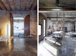 Industrial Loft Decor by Amazing Warehouse Conversion In Barcelona