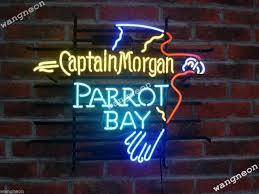 captain morgan neon bar light captain morgan neon beer sign bar light 19x15 ebay
