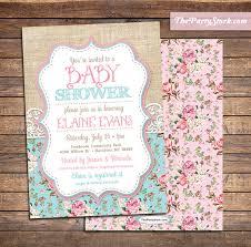 shabby chic baby shower shabby chic baby shower invitations baby sprinkle invitation