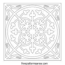decorative square ornament tile freepatternsarea