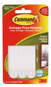 how to hang picture frames that have no hooks 3m command white picture hanging strip pack of 3 departments diy