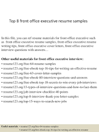 front office sle layout bunch ideas of front office resume exles for your layout resume