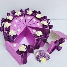 purple wedding favors wedding favor spas pcs purple wedding cake favor boxes candy boxes