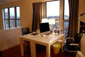 Home Office With Two Desks Loft Office Modern Home Office Other