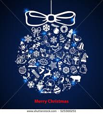 Decoration Happy New Year Merry Christmas Happy New Year Decoration Stock Vector 525556198