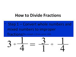 dividing a whole number by a fraction dividing fractions