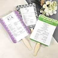 wedding program paper kits opentip cathy s concepts pr15 diy designer fan program paper