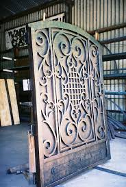 ornamental iron gates custom breezeway ornamental iron gates iron