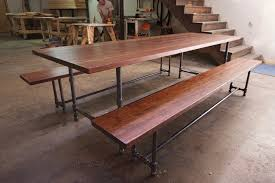 Dining Room Furniture Los Angeles Iron Pipe Dining Table And Benches Industrial Dining Tables