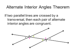 Alternate Interior by Angles And Parallel Lines Ppt