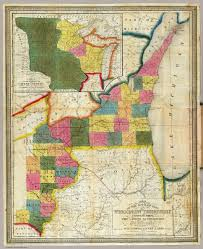 Map Of Counties In Wisconsin by Of The Settled Part Of Wisconsin Territory Abel Henry J