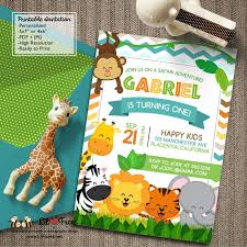 Jungle Birthday Card Best 25 Diy Jungle Birthday Invitations Ideas On Pinterest Diy