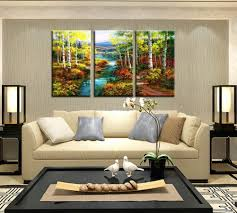 framed birch wood landscape nature picture prints canvas wall art