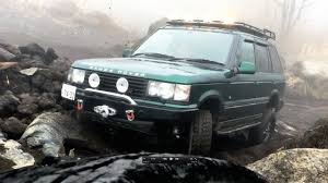 land rover off road range rover p38 off road in a foggy day youtube