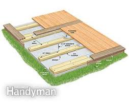 Building A Patio by How To Build A Deck Over A Concrete Patio Family Handyman