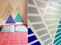 washi tape designs wall decorating ideas for renters