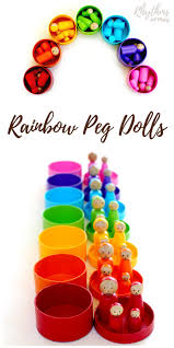diy rainbow peg dolls rhythms of play