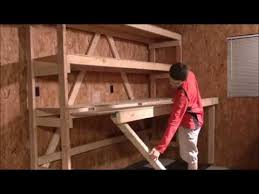How To Build Garage Storage by How To Build Your Own Diy Garage Shelves Youtube
