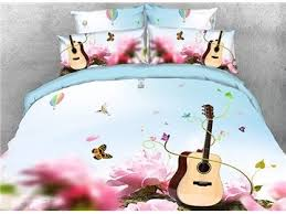 Guitar Duvet Cover All Lovely And Beautiful Scene Print Bedding Sets Beddinginn Com