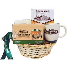 new orleans gift baskets café du monde original market coffee stand
