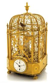 rare singing bird cage clock automaton by jaquet droz 1785