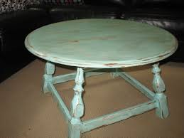 White Distressed Wood Coffee Table How To Make A Round Coffee Table
