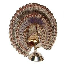 brass showpiece dancing peacock decorative item home decor buy
