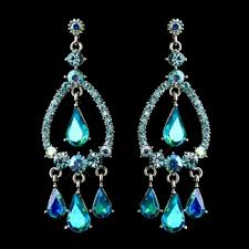 turquoise bridal earrings turquoise chandelier earrings silver chandelier earrings bridal