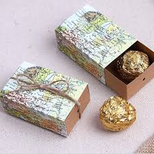 candy boxes wholesale wedding favors box gold glitter favor box set of wedding favor