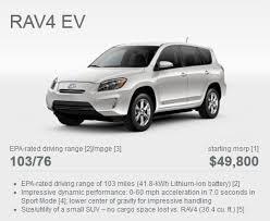 toyota rav4 electric range toyota discounts rav4 ev by up to 7 500 plugincars com